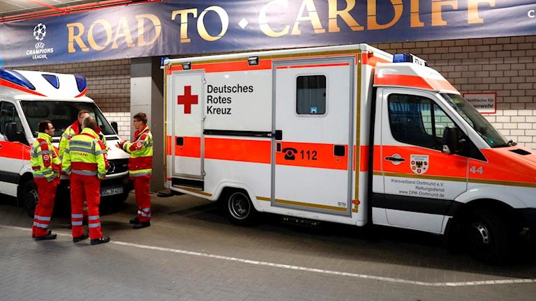 Ambulanser i Dortmund.