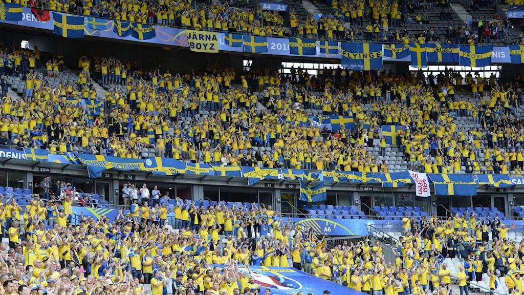Svenska supportrar.
