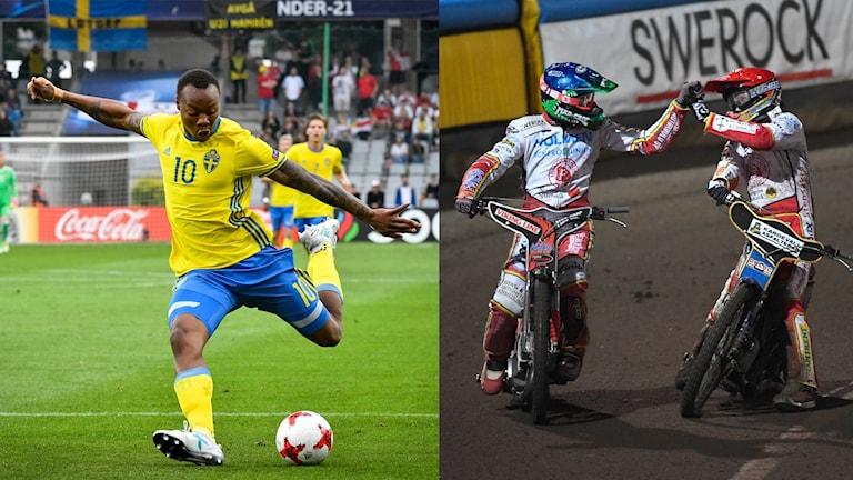 Fotboll och speedway i Sportextra.