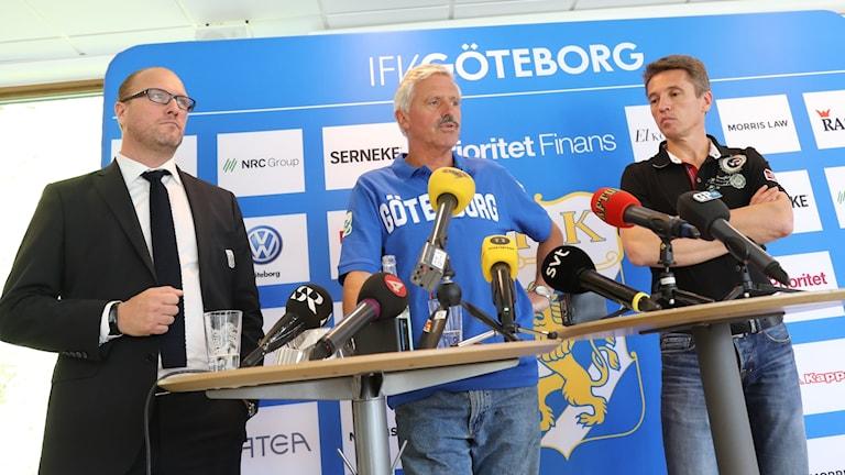 IFK Göteborg höll presskonferens med anledning av uppskjuta matchen.