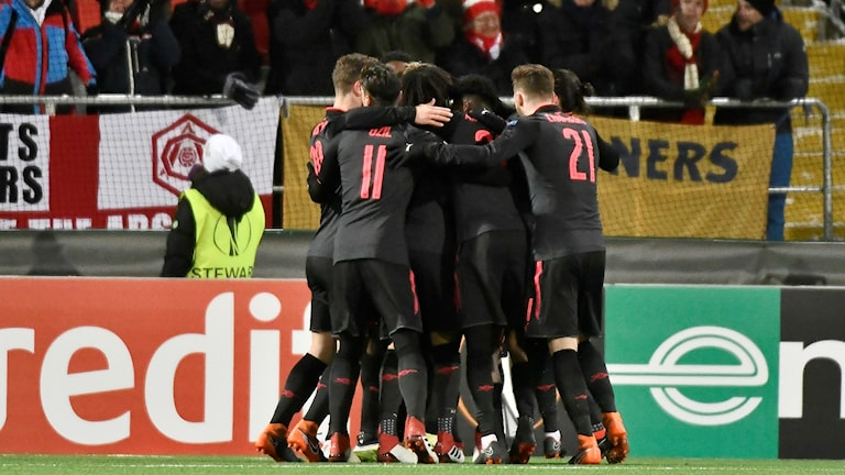 Arsenal cruised to a 3-nil victory against Östersund in the first leg of the Europa League last 32 tie.