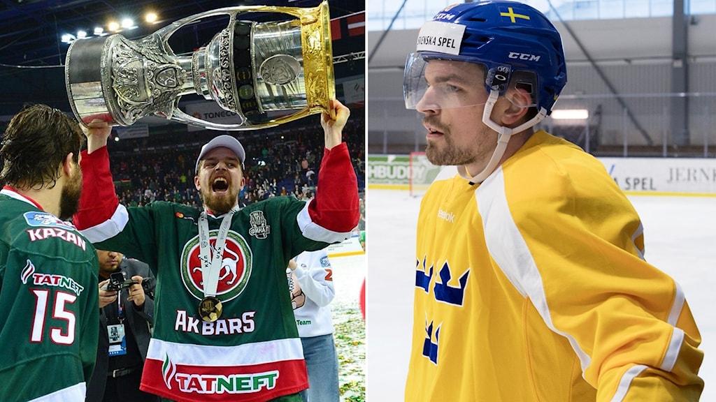 Anton Lander vann Gagarin Cup i våras, men kan tvingas se årets premiär från sidan.