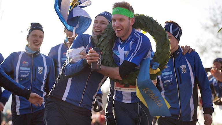 IFK-jubel efter segern i Tiomila.