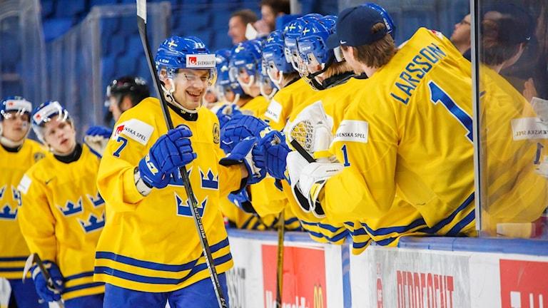 Sverige besegrade Slovakien i kvartsfinalen.