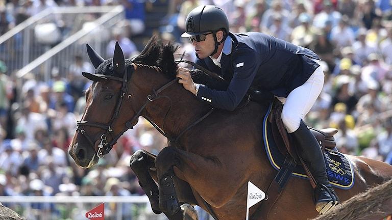 20160819 Peder Fredricson på hästen All In. Foto: Phillipe Lopez/AFP photo