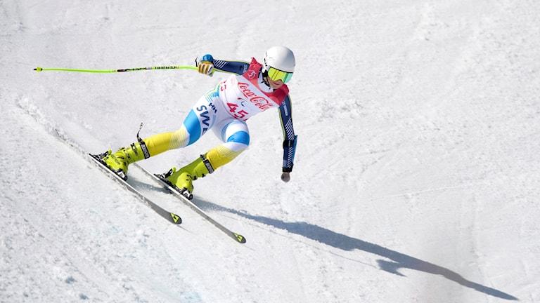 Aaron Lindström låg på 17:e plats innan han körde ur.