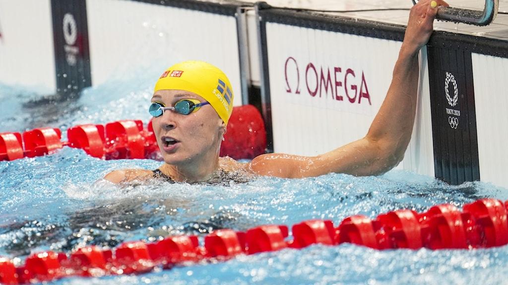 Sarah Sjöström vidare till final i 100 meter frisim.
