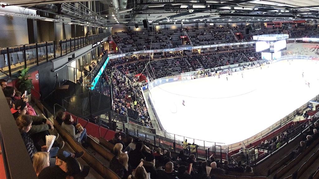 Det var många på plats när publikrekordet i SDHL slogs.