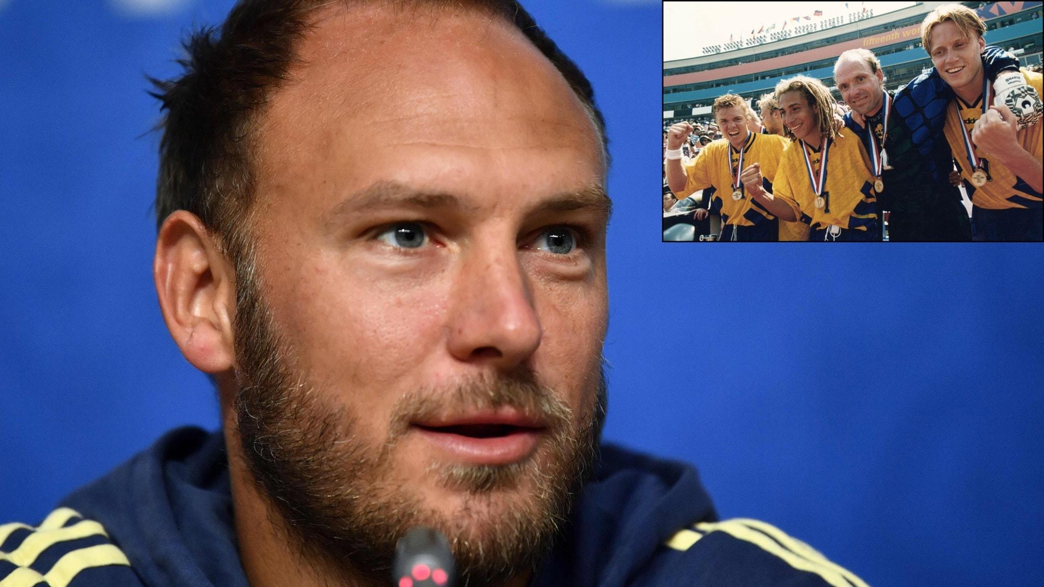 Presskonferens med andersson och granqvist infor vm kvalet