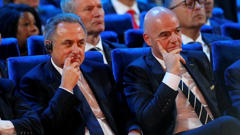 Vitalij Mutko och Gianni Infantino.