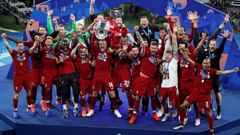 Champions League Final Liverpoolglädje. Foto: Armando Franca/TT
