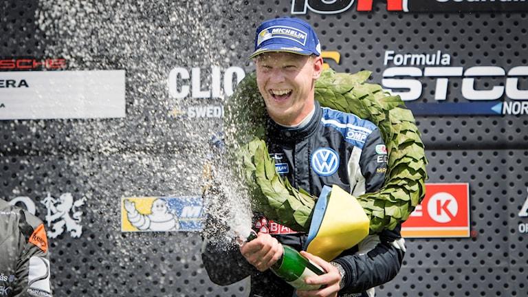 Med två tävlingar kvar har Johan Kristoffersson bärgat VM-titeln.
