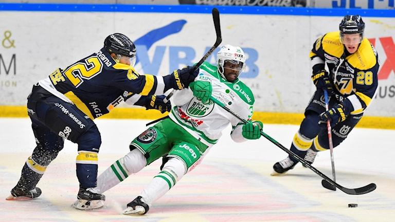 HV71 vann med 2-1 hemma mot Rögle.