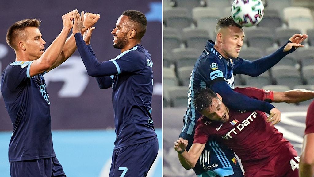 Malmö FF-jubel / Djurgården-nick.