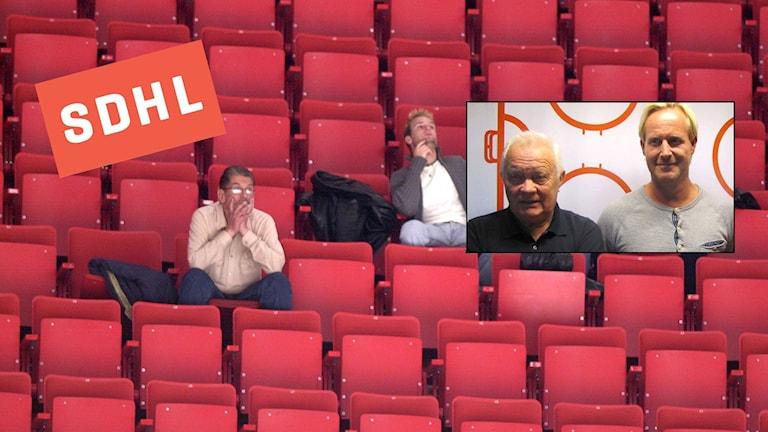 Radiosportens kommentators-par Magnus Wahlman och Lars-Gunnar Jansson anser att SDHL-klubbarna borde göra mer för att locka publik till matcherna.