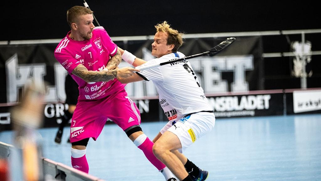 Helsingborgs Linus Nordgren och Faluns Rasmus Enström