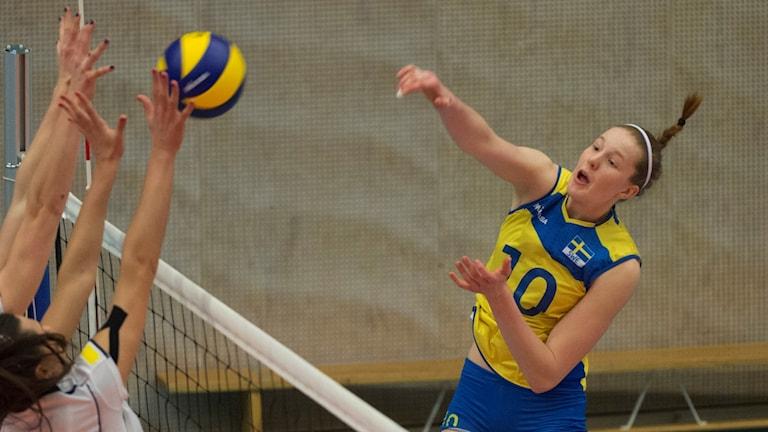 Svenska volleybollstjärnan Isabell Haak.