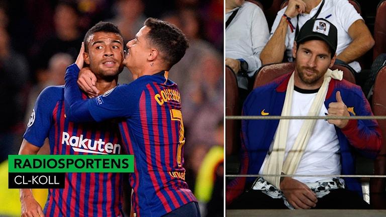 Barcelona vann – med Messi på läktaren.