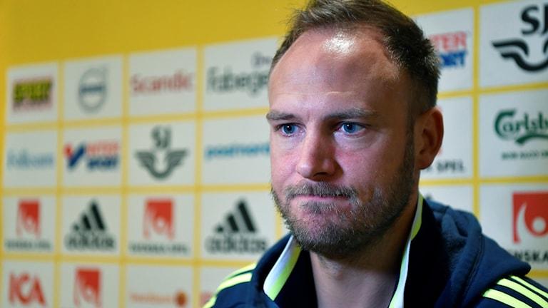 Lagkapten Andreas Granqvist är en av spelarna som riskerar avstängning.