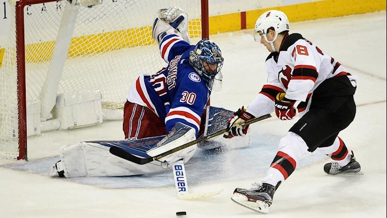 Henrik Lundqvist visar fin form i sitt New York Rangers.