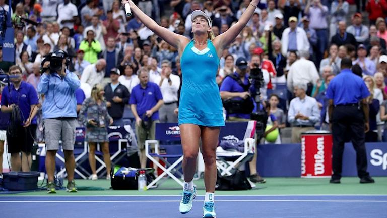 Coco Vandeweghe är klar för semifinal i US Open.