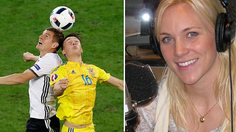 Johanna Frisk tror på Ukraina mot Nordirland.