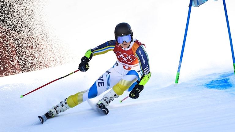 Sara Hector i OS-backen