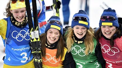 Hanna Öberg och de övriga silverhjältarna.