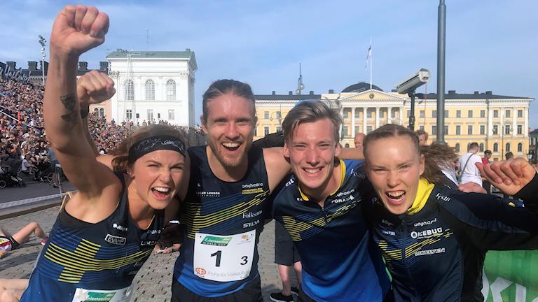 Från vänster: Karolin Ohlsson, Gustav Bergman, Emil Svensk, Tove Alexandersson