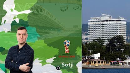 VM-staden Sotji. Foto: TT och SR
