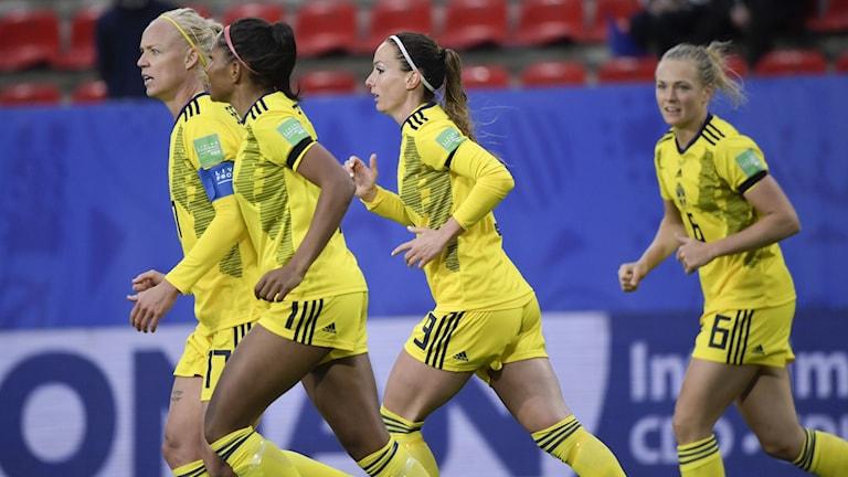 Det svenska damlandslaget under sommarens VM.