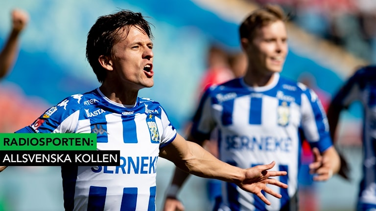 Lasse Vibe jublar efter sitt 1-0-mål.