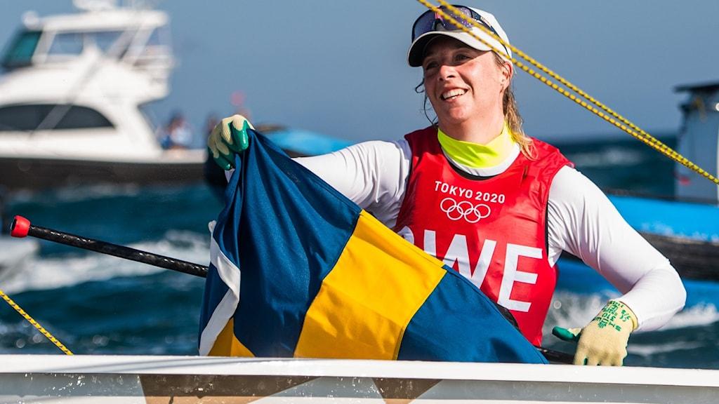 Josefin Olsson knep silver under OS-seglingen.