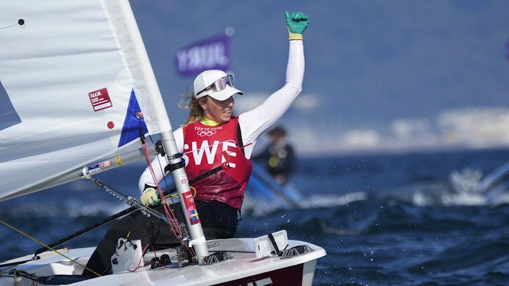 Josefin Olsson tar Sveriges fjärde OS-medalj.