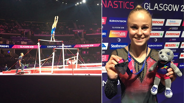 Jonna Adlerteg tog EM-silver i barr.