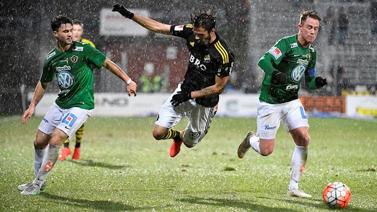 Regnrusk när J-Södra och AIK spelade 0-0.