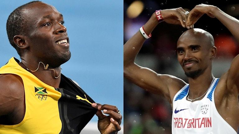 Bolt och Farah.