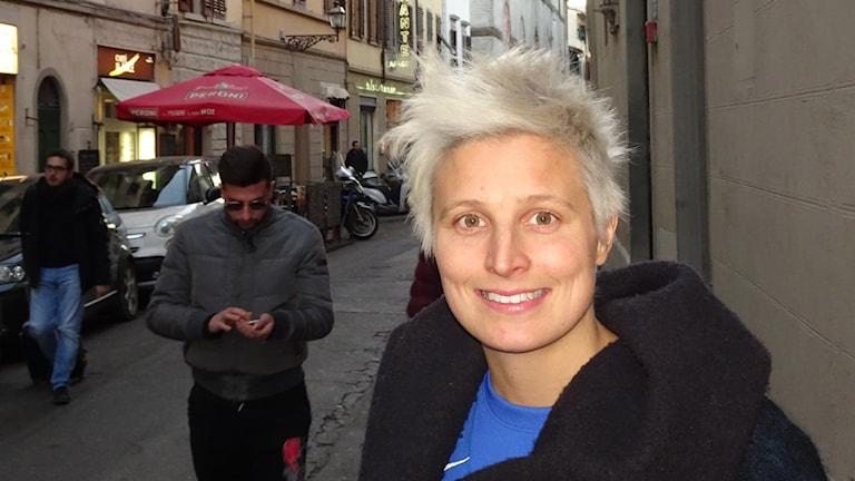 Lisa Ek i Florens. Foto: Mats Dahlberg/SR