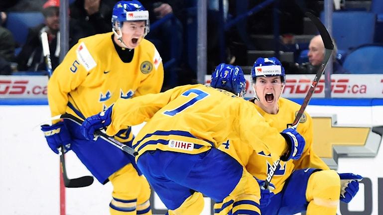 Lias Andersson, Gustav Lindström och Timothy Liljegrens Juniorkronorna är klart för JVM-final.