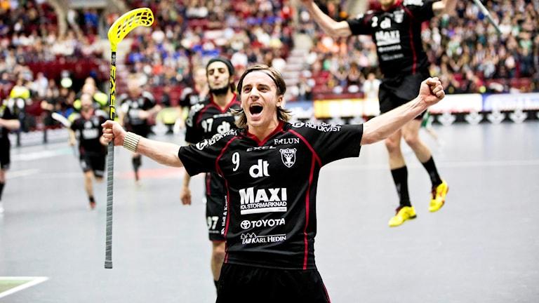Faluns Alexander Galante Carlström under finalen 2013.