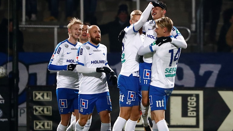 Norrköping firar 1-0 hemma mot Örebro.