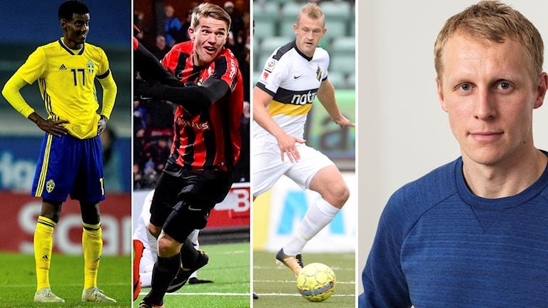Alexander Isak, Viktor Gyökeres och Robin Jansson är tre av spelarna som Richard Henriksson är nyfikna på.
