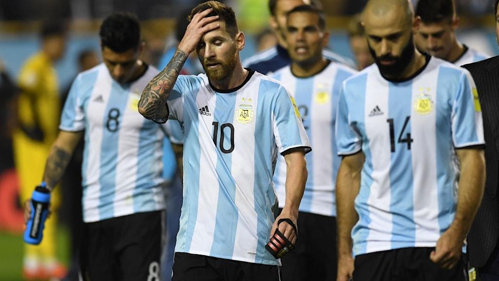 Argentina ligger illa till inför kvalavslutningen.