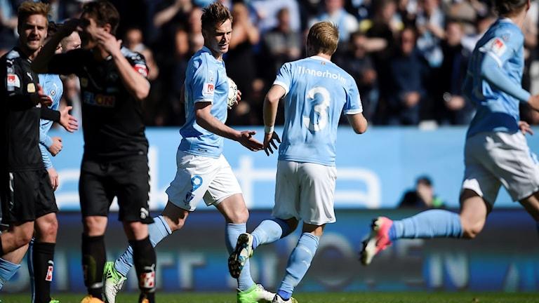 Malmö FF:s Markus Rosenberg efter sin kvittering.