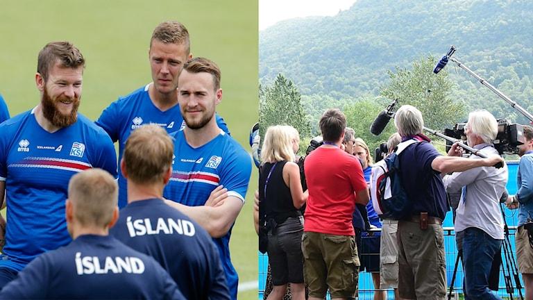 Stort medieintresse kring Islands träning