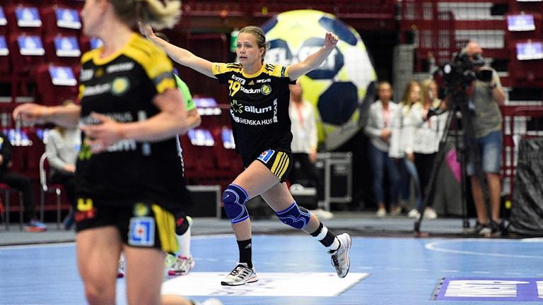 Olivia mellegråd gjorde fyra mål i Sävehofs segermatch.
