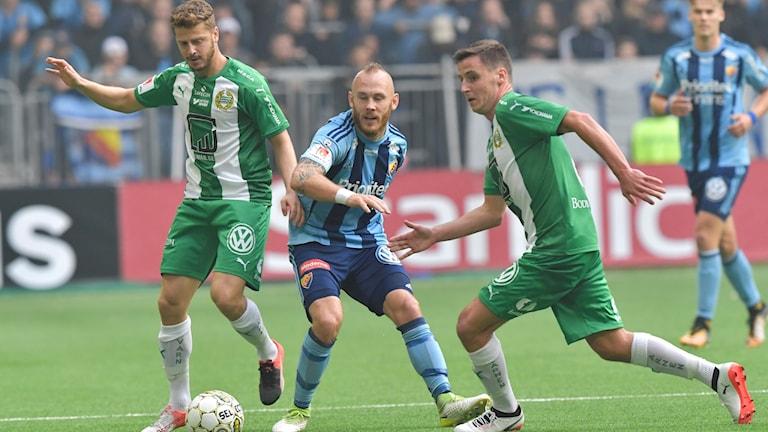 Djurgården och Hammarby spelade 1-1.