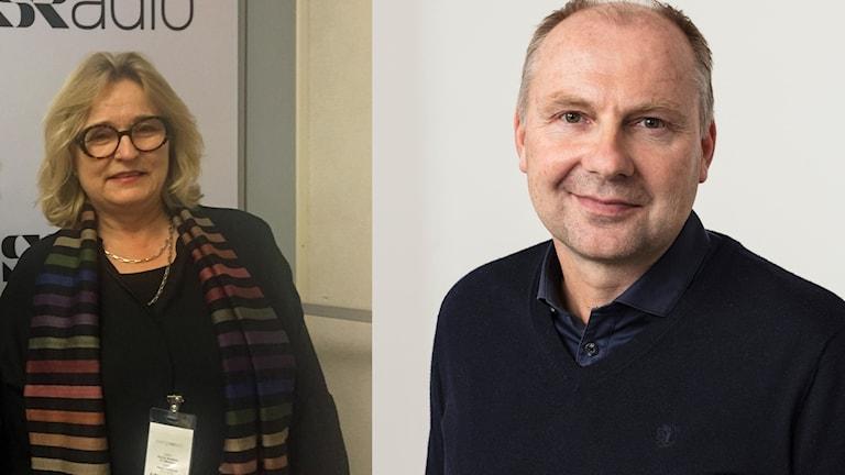 Islands ambassadör i Sverige Estrid Brekkan och Radiosportens expert Håkan Mild.