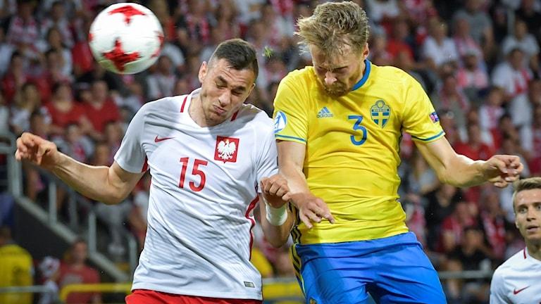 Det blev 2-2 mellan Sverige och Polen.