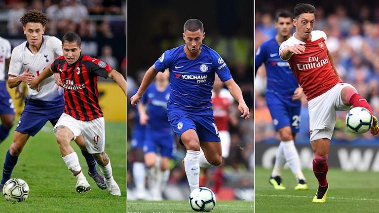 Europa league med flera storlag.